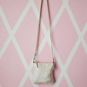 Coach Bags - COACH 🐎 Cream Floral Leather Crossbody
